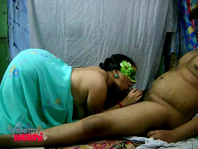 Velamma 16. Velamma bhabhi giving her lover a blowjob after a